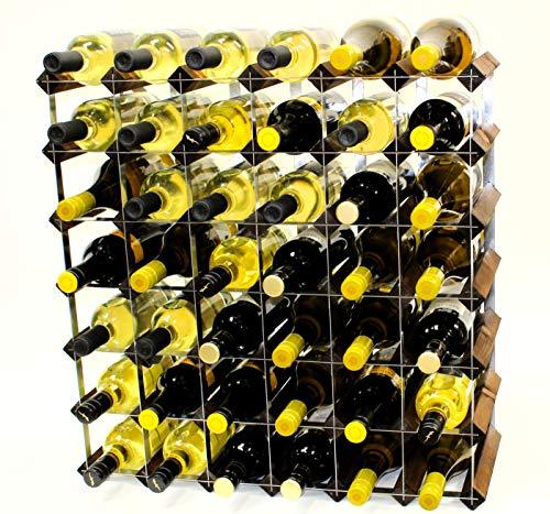 Cranville wine racks Klassische 42Flasche Nussbaum gebeizt Holz und verzinktem Metall Weinregal fertig montiert -