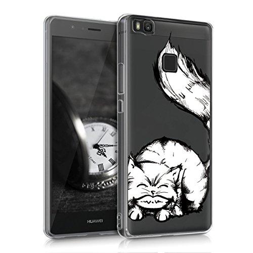 kwmobile Huawei P9 Lite Hülle - Handyhülle für Huawei P9 Lite - Handy Case in Schwarz Weiß Transparent Wonder Mold