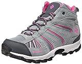 Columbia Youth North Plains Mid Waterproof, Chaussures de Randonnée Hautes Fille, Gris (Grey Ash/ Ultra Pink), 34 EU