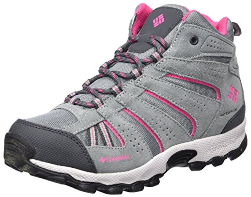 Columbia Mädchen Youth North Plains Mid Waterproof Trekking- & Wanderhalbschuhe, Grau (Grey Ash/Ultra Pink), 39 EU