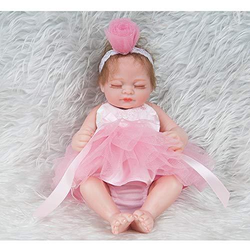 Lifelike Reborn Doll 11 Zoll 28cm Realistic Silicone Real Touch Neugeborene Babies Spielzeug mit Kleidung Kids Birthday Prinzessin Mädchen Xmas Geschenk (Silicone Mädchen Doll Baby)