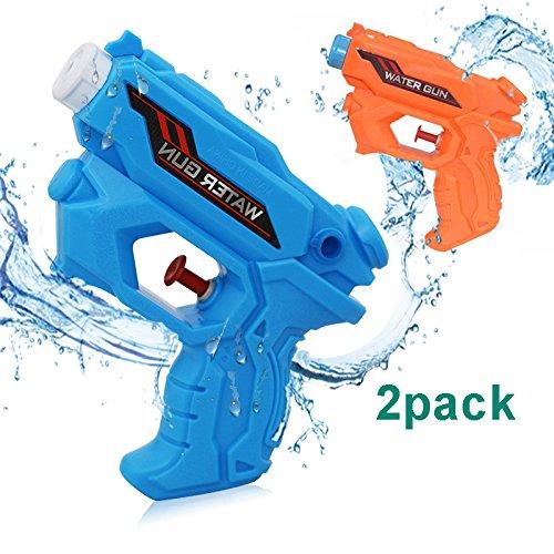 Dlife 2PCS Wasserpistole Perfektes Geschenk für Jungen und Mädchen,Kindergeburtstag,Wasser Spritzpistolen Ideal als Bade-Spielzeug für den Sommer