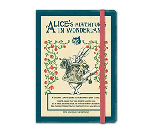 Alice's Adventures in Wonderland 150th Anniversary Limited Edition 2018 Diary, Organizer, Planner - Undated Perpetual Annual Weekly Planner Journal scheduler Datebook Made in Korea (White Rabbit)