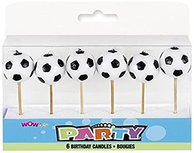 WOW Ball Shaped Football Candles, Pack of 6 by Wow Party Supplies