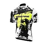 Uglyfrog Sport im Freien Klassik Polyester Fahrradtrikot Frühling Herren Gemütlich Kurzarmtrikot Radfahren Jersey Triathlon Bekleidung