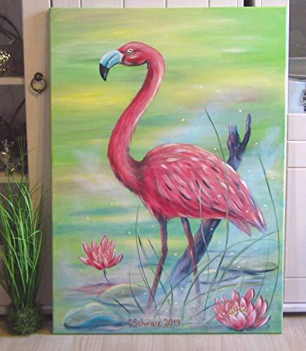 Leinwandbild Rosa Flamingos