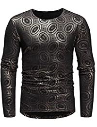 BUSIM Men's Long Sleeved Shirt Autumn Winter Luxury African Style Ethnic Style Printing Round Neck Fashion Trend...