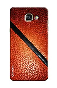 Omnam Brown Leather Printed Pattern Printed Designer Back Cover Case For Samsung Galaxy A7 (2016)