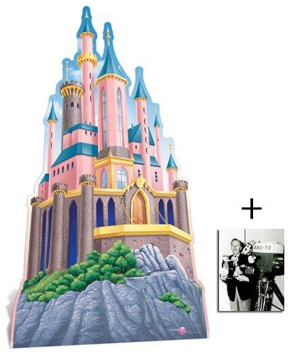 Disney Princess Schloss übergroß Pappfiguren / Stehplatzinhaber / Aufsteller - Enthält 8X10 (25X20Cm) starfoto -