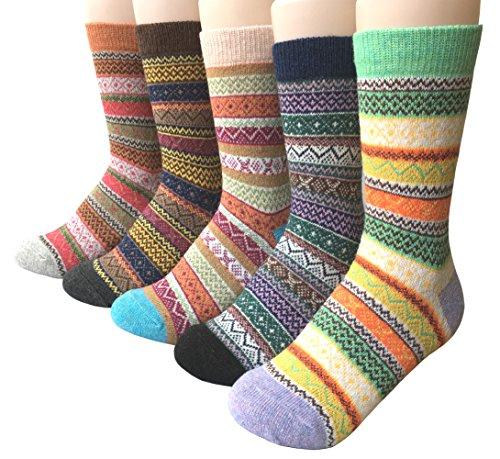 Vellette Baumwolle knallig bunt gepunktete Damen Socken Gr. 35-40 (5 Paar) (Für Frauen Chenille-socken)