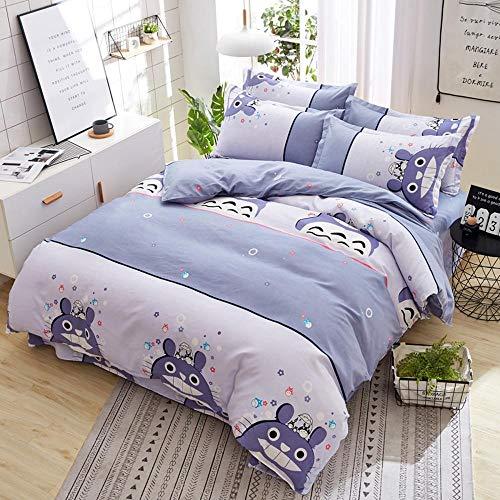 Kaschmir Twin-set (Sxuefang Bettwäsche-Set von 4 Heim-und Haustextilien Einfache Köper Vier Stück Set Anlage Kaschmir Baumwolle Bettwäsche Bettwäsche Decken Quilt)