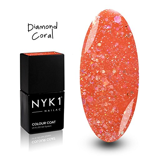 NK1 DIAMOND CORAL GEL VERNIS COULEUR a ONGLES Professional Individuel UV/LED 10ml. Imbient Outré