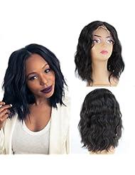 zanawigs Fashion Style de cheveux humains naturels non traités brésiliens vierges courtes perruque Lace Front...