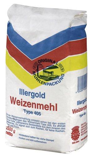 Illergold Weizenmehl Type 405, 2.5 kg