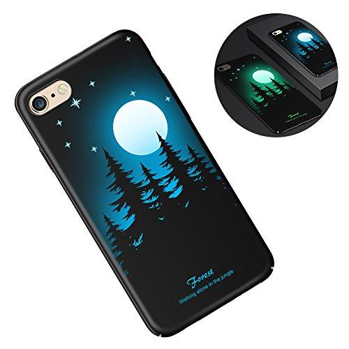 Aeeque® [7 3D Luminoso Noctilucent TPU Silicona Funda Trasera Carcasa para iPhone 6/iPhone 6s
