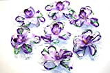 tatjana-land-deko 7 St. Auto Schmuck Orchidee Blumen Braut Paar Dekoration Autoschmuck Hochzeit LA58 (Nr.1)