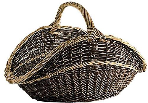 Panier à bûches en osier, l 65 -PEGANE-