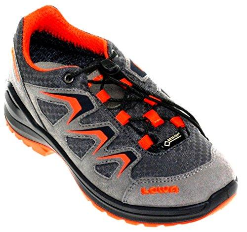 Lowa Innox Evo Gtx Lo Junior, Chaussures de Randonnée Mixte Enfant Grau (anthrazit/orange)