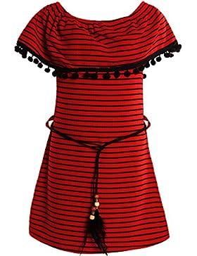 BEZLIT - Vestido - Camisa - Rayas - Cuello redondo - Manga Larga - para niña