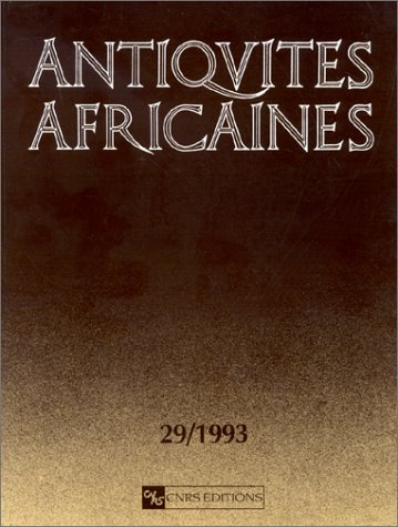 Antiquités africaines, tome 29, 1993