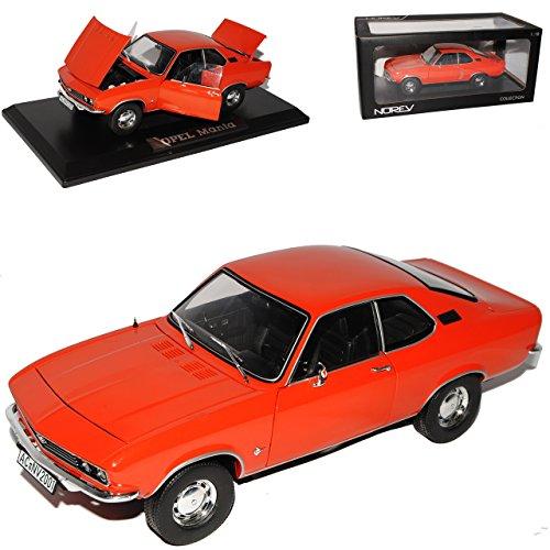 Norev Opel Manta A Ziegel Rot Coupe 1970-1975 1/18 Modell Auto mit individiuellem Wunschkennzeichen