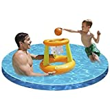 Easy Inflate Floating Hoop Basket Ball Swimming Pool Toy Game For Kids / Outdoor Garden Patio Home House Ouside Furniture Porch Yard Backyard Stuff Gadgets Set Kit Table Family Summer Cooking Cooker Items Portable Food Meat BBQ Gear Stand Birthday Gift Gardening Special Unique Durable High Quality Professional Large Small Stove Sitting Setting Shop Store Compact