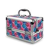 Borsa da toilette sospesa multifunzionale Il caso cosmetico di vanità di stampa della Rosa compone il contenitore di regalo portatile di viaggio del contenitore di gioielli del chiodo di bellezza Pacc
