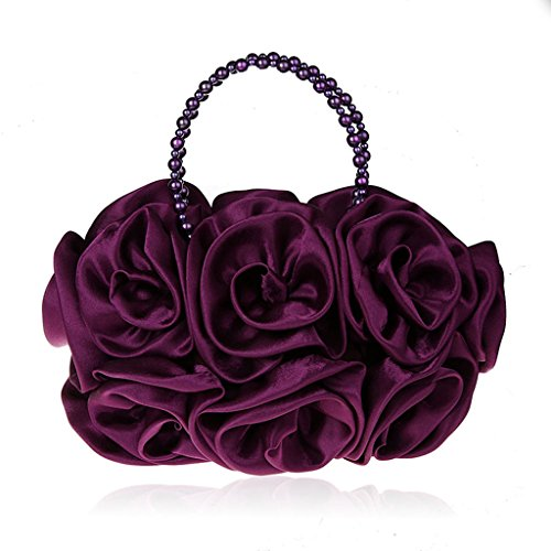 I nuovi fiori di perline sacchetti della borsa di sera si vestono sacchetto del vestito da banchetto borsetta borsa da sera ( Colore : Viola ) Viola