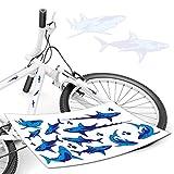 style4Bike Hai Aufkleber Set als Fahrradaufkleber Ozean Meer Sticker de