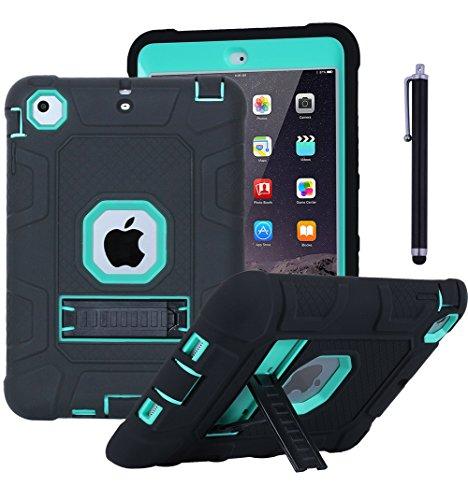 iPad Mini Case, iPad Mini 2Case, iPad Mini 3, aicase Heavy Duty Rugged Hybrid Drei Layer High Impact Resistant Stoßfest Schutzhülle mit Ständer & Stylus für iPad Mini 1/2/3, Grün - Harry Mini Potter Case Ipad