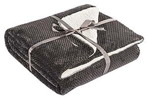 decoking 01707 decke 220x240 cm graphit microfaser kuscheldecke lammfelloptik mikrofaserdecke. Black Bedroom Furniture Sets. Home Design Ideas