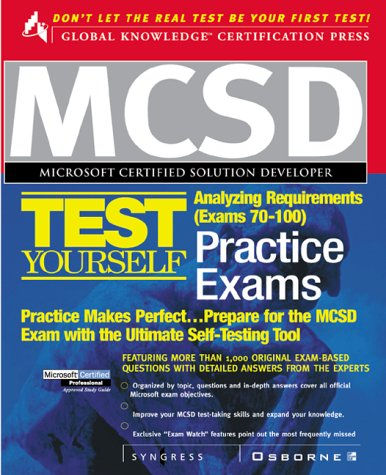 Mcsd Analyzing Requirements Test Yourself Practice Exams: Exams 70-100 (Certification Press) por Syngress Media