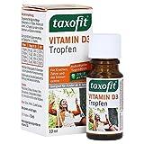 taxofit Vitamin D3 Tropfen (1x 10ml), ergiebiges Fläschchen, ohne Alkohol, geeignet für Kinder ab 4 Jahren