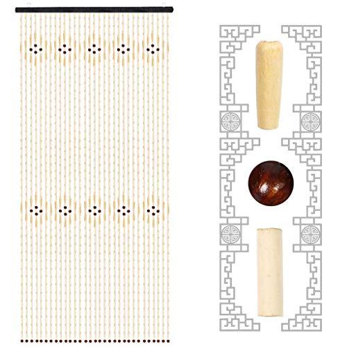 Holz Bambus Perlen fliegenden Vorhang Tür, Insektenschutz im Sommer, staubdicht 82 '' × 35 '' -