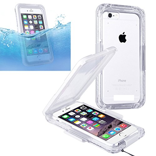 Wecell iPhone 6 / 6S wasserdichtes Outdoor Case Schutzhülle hülle Armor Cover - Weiß Weiß