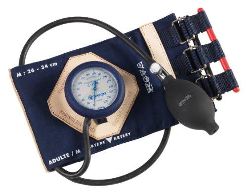 Spengler vaquez-laubry Classic Blutdruckmessgerät mit Baumwolle Infusion Manschette und Riemen Aufsätze Medium Größe für Erwachsenen Navy Blau -