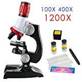 Assemble Kids Microscope Science kit with Slides Educational Beginner Microscopes Kit with LED