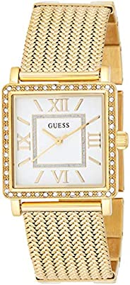 Guess Women's White Dial Stainless Steel Band Watch - W08