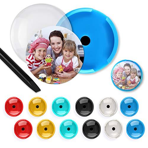 12 Stück austauschbarer Hintergrund DIY Kühlschrank Dekoration Magnete Kreative Foto Displays für Büroschränke Whiteboards 6 Colors ()