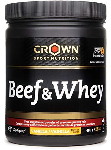 Crown Sport Nutrition Beef & Whey Proteína de Carne y Leche, Suplemento para Deportistas,...