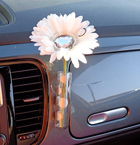 Preisvergleich Produktbild Bling My Bug WDVASE Käfer Blume,  weiß und Diamant Bling Daisy mit Universal Vase