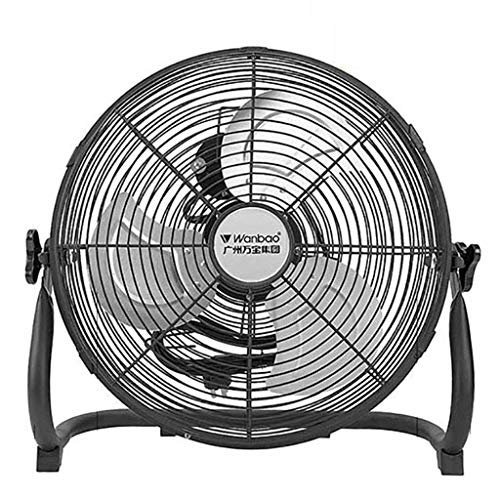 ADWN Industrielle High Velocity Orbital Drum Fan/Gym Floor Fan/Industrie-Fan/Elektro-Fan Desktop mit 3 Geschwindigkeiten und einstellbarer Ventilatorkopf/Schwarz,14 Zoll (Drum Deckenventilator)