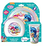 Shimmer and Shine Tumbler, Bowl, Plate Set, 3 piece, Multi-colour