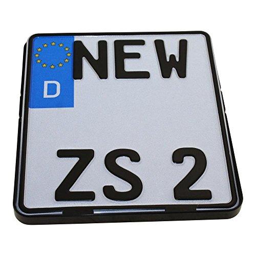 Kennzeichenhalter Motorrad 180 x 200mm Nummernschildhalter Kennzeichenträger schwarz Halterung Nummernschild
