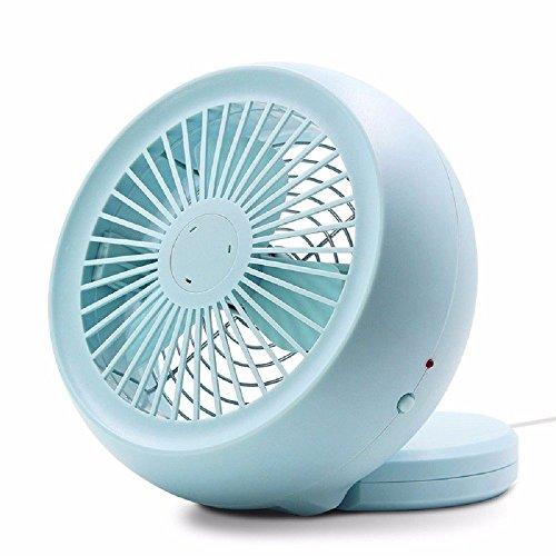 Fan-speed-control-single (Duang® Mini Elektrischer USB Ventilator mit LED-Licht Beweglicher Tischventilator -Laptop-Fan für Heim und Büro, Innen- und Außenbereich für zu Hause, reisen im Freien, in der Schule studieren usw (Grau))