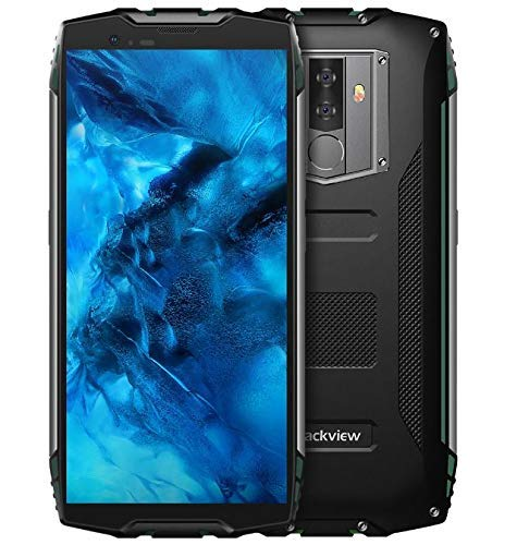 Blackview BV6800 Pro - 5,7 Zoll FHD + (18:9 Verhältnis) Militär Standard-Smartphone, 6580mAh BAK-Batterie (30 Tage Standby, schnelle Ladung), IP68 Wasserdicht/Stoßfest,Achtkern 4GB + 64GB- Grün