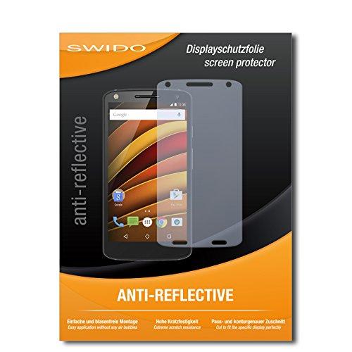 SWIDO Bildschirmschutz für Motorola Moto X Force [4 Stück] Anti-Reflex MATT Entspiegelnd, Hoher Härtegrad, Schutz vor Kratzer/Glasfolie, Schutzfolie, Bildschirmschutzfolie, Panzerglas Folie