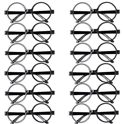 Vordas 12pcs Gafas Magos Plástico Marco Gafas Redondo