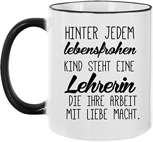 Ezyshirt® Lehrerin - Helden des Alltags Kaffeetasse Kaffeebecher