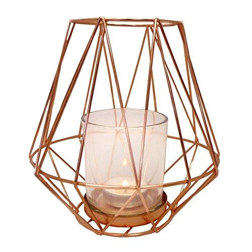 just-contempo-retro-copper-metal-tea-light-holder